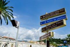 Zeichen von Monaco Lizenzfreies Stockfoto