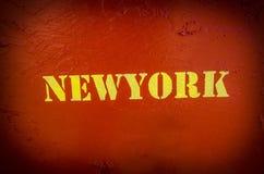 Zeichen von newyork Text Stockfoto
