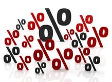 Zeichen von Prozenten lizenzfreie abbildung