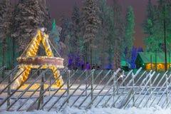 Zeichen von Santa Claus Joulupukki Residence Stockfoto