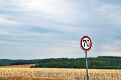 Zeichen von siebzig Lizenzfreie Stockfotos