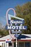 Zeichen von Supai-Motel Lizenzfreie Stockbilder