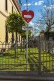 Zeichen von verboten gegen Missbrauch stockfoto