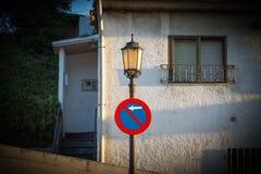 Zeichen von verboten zum Park Lizenzfreie Stockfotos