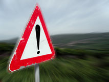 Zeichen von WARNING Lizenzfreies Stockfoto