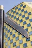 Zeichen vor dem Rathaus von Hardenberg Lizenzfreie Stockbilder