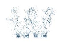 Zeichen W des Wasseralphabetes Stockfoto