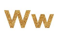 Zeichen W Englisches Alphabet Getrennt auf wei?em Hintergrund stockfoto