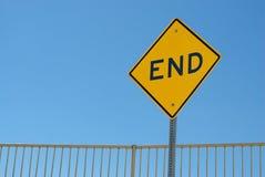 Zeichen, welches das Ende der Straße markiert Lizenzfreies Stockfoto