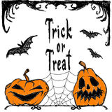 Zeichen werden über dem Hintergrund getrennt Glückliches Halloween Halloween-Beschriftung Halloween-Karten Lizenzfreies Stockfoto