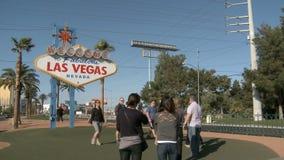 Zeichen-Willkommen nach Las Vegas stock video