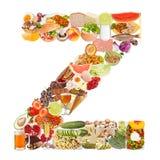 Zeichen Z gebildet von der Nahrung Lizenzfreie Stockfotografie