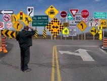 Zeichen, Zeichen überall ein Zeichen. Stockfotos