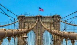 Zeichen, Ziegelsteine, nahe der Brooklyn-Brücke Lizenzfreie Stockfotos