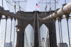 Zeichen, Ziegelsteine, nahe der Brooklyn-Brücke Lizenzfreie Stockfotografie