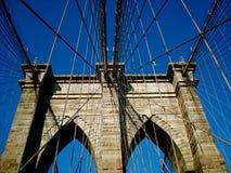 Zeichen, Ziegelsteine, nahe der Brooklyn-Brücke Stockfoto
