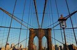 Zeichen, Ziegelsteine, nahe der Brooklyn-Brücke Lizenzfreies Stockfoto