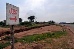 Zeichen zu Juba Lizenzfreies Stockbild