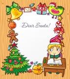 Zeichen zu Weihnachtsmann   Lizenzfreie Stockfotos