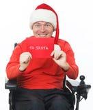 Zeichen zu Weihnachtsmann Lizenzfreies Stockfoto
