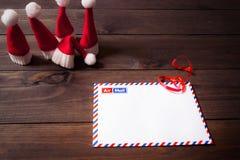 Zeichen zu Weihnachtsmann Stockfotografie