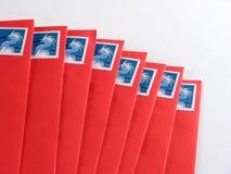Zeichen zur Post stockbild
