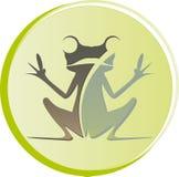 Zeichenfroschsitzen Lizenzfreies Stockbild