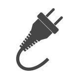 Zeichenikone des elektrischen Steckers, Energieenergiesymbol stock abbildung
