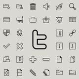 Zeichenikone des Sozialen Netzes Ausführlicher Satz minimalistic Ikonen Erstklassiges Grafikdesign Eine der Sammlungsikonen für W lizenzfreie abbildung