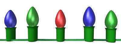 Zeichenkette der Leuchten Lizenzfreies Stockbild