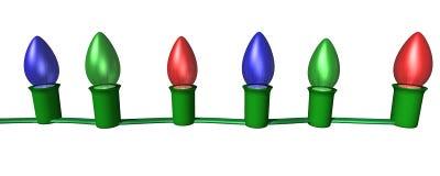Zeichenkette von Leuchten 2 Stockbild