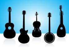 Zeichenketteinstrumentschattenbilder Stockfotos