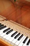 Zeichenketten des geöffneten Klaviers Lizenzfreie Stockbilder