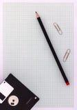 Zeichenpapier mit Maßeinteilung mit Bleistift Lizenzfreie Stockbilder