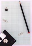 Zeichenpapier mit Maßeinteilung mit Bleistift Lizenzfreies Stockfoto