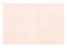 Zeichenpapiers- mit Maßeinteilunghintergrund - rote Farbe Lizenzfreies Stockbild