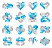 Zeichenschablonen des Pfeiles 3d stock abbildung