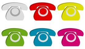 Zeichenset des Telefons 3d Stockfoto