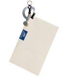 Zeichenskala, die einen Umschlag wiegt Stockfoto