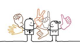Zeichensprache Lizenzfreie Stockfotos