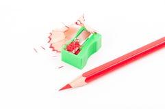 Zeichenstift mit Bleistiftspitzer Lizenzfreie Stockbilder