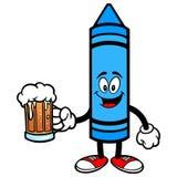 Zeichenstift mit einem Bier Stockfotos