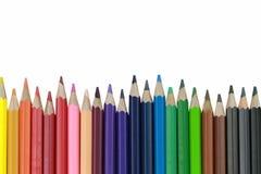 Zeichenstift- oder Bleistiftfarbe lokalisiert auf weißem Hintergrund Lizenzfreie Stockbilder