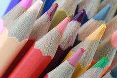 Zeichenstift vieler Farben Stockfotos