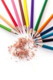 Zeichenstifte mit vielen schönen Farben verfügbar Lizenzfreies Stockbild