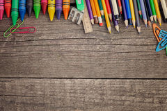 Zeichenstifte und farbige Bleistifte Lizenzfreies Stockbild