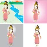 Zeichentrickfilm-Figur der Königin Bhudda Stock Abbildung