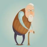 Zeichentrickfilm-Figur des alten Mannes lizenzfreie abbildung