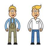 Zeichentrickfilm-Figur des Mannes, lizenzfreie abbildung