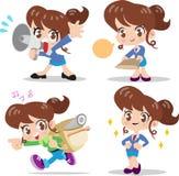 Zeichentrickfilm-Figur-Frau stock abbildung